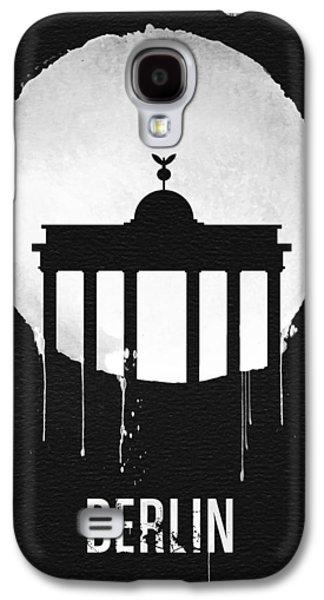 Berlin Landmark Black Galaxy S4 Case by Naxart Studio