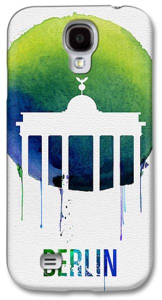 Berlin Landmark Blue Galaxy S4 Case by Naxart Studio