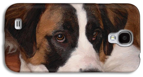 Puppies Digital Galaxy S4 Cases - Bernadette Galaxy S4 Case by Doug Kreuger