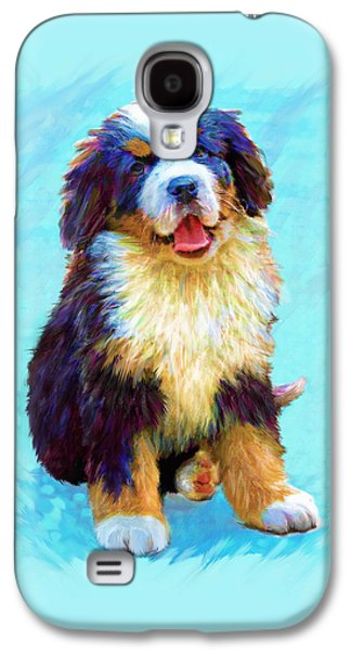 Puppy Digital Galaxy S4 Cases - Bernese Mountain Dog Galaxy S4 Case by Jane Schnetlage