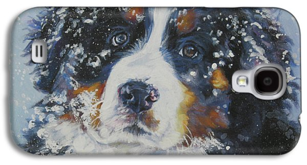 Puppies Galaxy S4 Cases - Bernese Mountain Dog Puppy Galaxy S4 Case by Lee Ann Shepard