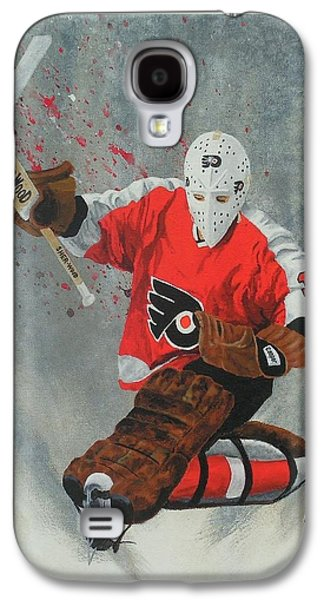 Stanley Cup Paintings Galaxy S4 Cases - Bernie Parent Galaxy S4 Case by William Boehmer