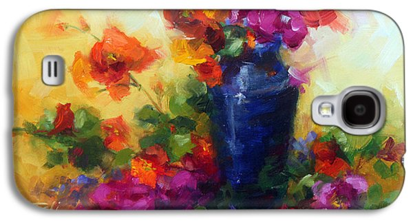 Gladiolas Paintings Galaxy S4 Cases - Best Friends Galaxy S4 Case by Talya Johnson