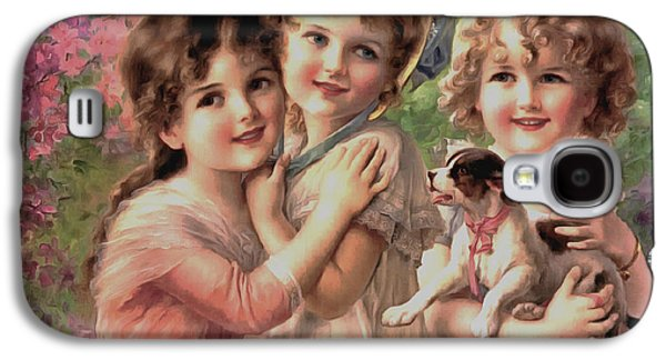 Best Sellers -  - Puppy Digital Art Galaxy S4 Cases - Best Of Friends Galaxy S4 Case by Emile Vernon