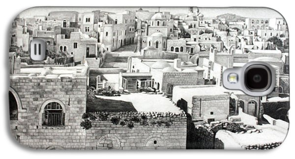 Bethlehem Galaxy S4 Cases - Bethlehem Old Town Galaxy S4 Case by Munir Alawi