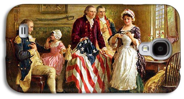 Betsy Ross And General George Washington Galaxy S4 Case by War Is Hell Store