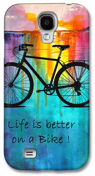 Better On A Bike Galaxy S4 Case by Nancy Merkle