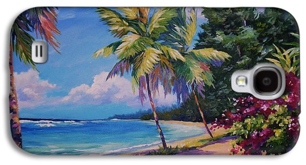 Gallery Paintings Galaxy S4 Cases - Between the Palms 20x16 Galaxy S4 Case by John Clark