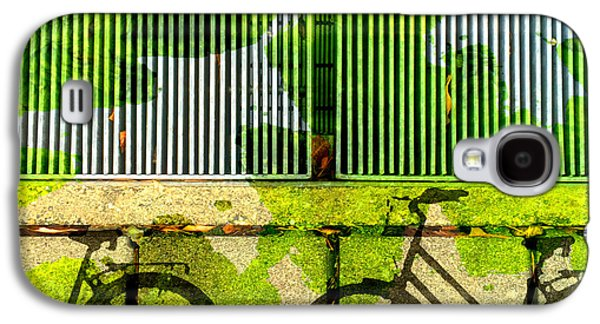 Abstract Digital Galaxy S4 Cases - Bicycle Parking Galaxy S4 Case by Nancy Merkle