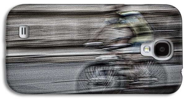Recently Sold -  - Abstract Movement Galaxy S4 Cases - Bicycle Rider Abstract Galaxy S4 Case by Stuart Litoff