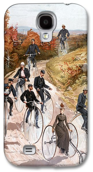 Country Dirt Roads Galaxy S4 Cases - Bicycling, 1887 Galaxy S4 Case by Granger