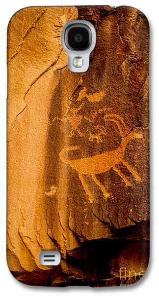 Shamanism Galaxy S4 Cases - Big Horn Sheep Petroglyph - Nine Mile Canyon - Utah Galaxy S4 Case by Gary Whitton