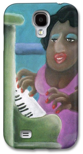 Piano Pastels Galaxy S4 Cases - Big Mama Galaxy S4 Case by Caroline Peacock