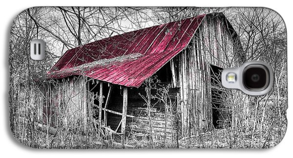 Red Roofed Barn Galaxy S4 Cases - Big Red Galaxy S4 Case by Debra and Dave Vanderlaan