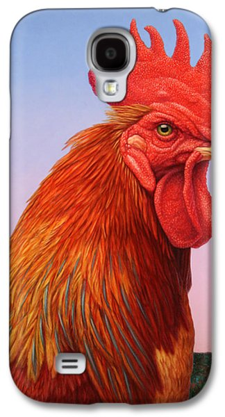 Feather Galaxy S4 Cases - Big Red Rooster Galaxy S4 Case by James W Johnson