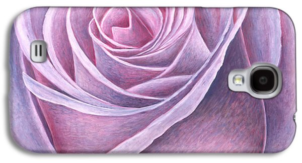 Flower Of Life Galaxy S4 Cases - Big Rose Galaxy S4 Case by Ruth Addinall