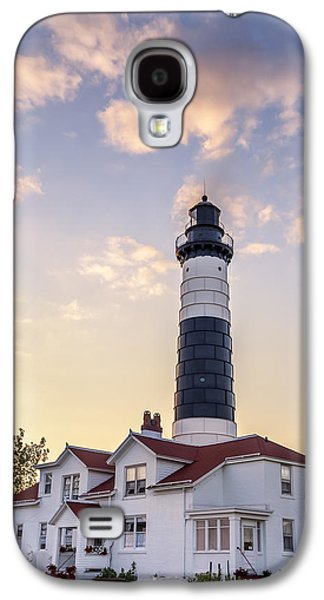 Family Walks Galaxy S4 Cases - Big Sable Point Light and Keepers House Galaxy S4 Case by Adam Romanowicz