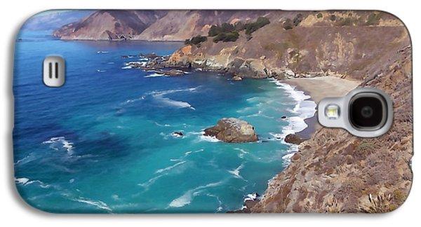 Big Sur Ca Galaxy S4 Cases - Big Surs Bixby Bridge Galaxy S4 Case by Art Block Collections