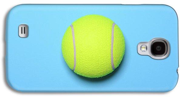 Big Tennis Ball On Blue Background - Trendy Minimal Design Top V Galaxy S4 Case by Aleksandar Mijatovic