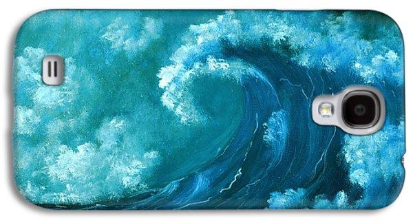 Wind Galaxy S4 Cases - Big Wave Galaxy S4 Case by Anastasiya Malakhova