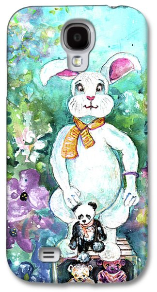 Big White Rabbit And Teddy Bears In A Flower Shop Galaxy S4 Case by Miki De Goodaboom