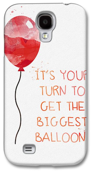 Balloons Galaxy S4 Cases - Biggest Balloon- card Galaxy S4 Case by Linda Woods