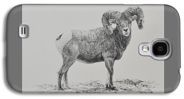 Drawing Galaxy S4 Cases - Bighorn Galaxy S4 Case by Jim Young