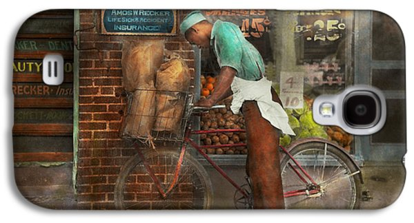 African-american Galaxy S4 Cases - Bike - Delivering groceries 1938 Galaxy S4 Case by Mike Savad