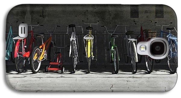 Bike Rack Galaxy S4 Case by Cynthia Decker