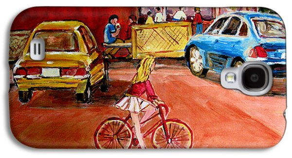 A Hot Summer Day Galaxy S4 Cases - Biking To The Orange Julep Galaxy S4 Case by Carole Spandau