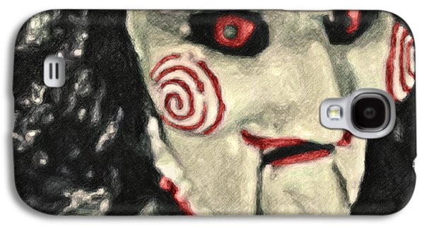 Character Portraits Paintings Galaxy S4 Cases - Billy the Puppet Galaxy S4 Case by Taylan Soyturk