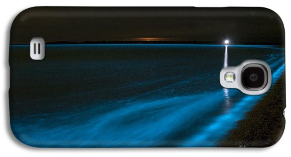 Plankton Galaxy S4 Cases - Bioluminescence In Waves Galaxy S4 Case by Philip Hart