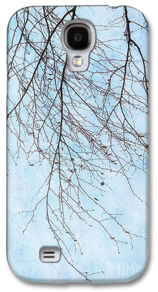 Abstract Digital Galaxy S4 Cases - Birch branches with leaves Galaxy S4 Case by SK Pfphotography