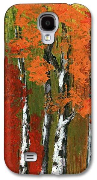 Galaxy S4 Cases - Birch Trees in an Autumn Forest Galaxy S4 Case by Anastasiya Malakhova