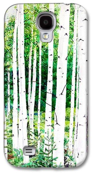 Jennifer Apffel Galaxy S4 Cases - Birch Trees Galaxy S4 Case by Jennifer Apffel