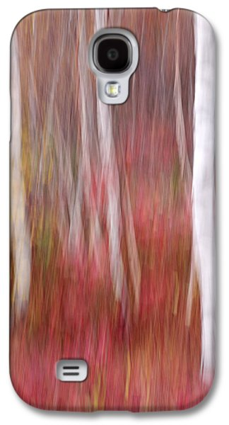 Nature Abstract Galaxy S4 Cases - Birch Trunks-Abstract Galaxy S4 Case by Thomas Schoeller