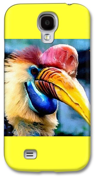 Abstract Digital Pastels Galaxy S4 Cases - Bird Beauty - 3 H A Galaxy S4 Case by Gert J Rheeders