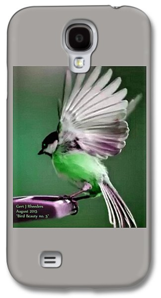Abstract Digital Pastels Galaxy S4 Cases - Bird Beauty - no. 5 H A Galaxy S4 Case by Gert J Rheeders