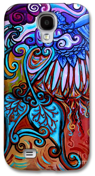 Surrealistic Paintings Galaxy S4 Cases - Bird Heart II Galaxy S4 Case by Genevieve Esson