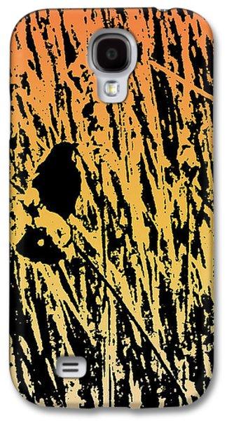 Black Bird.flying Art Paintings Galaxy S4 Cases - Bird In Color Galaxy S4 Case by Debra     Vatalaro