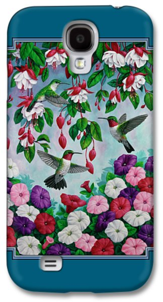 Bird Painting - Hummingbird Heaven Galaxy S4 Case by Crista Forest