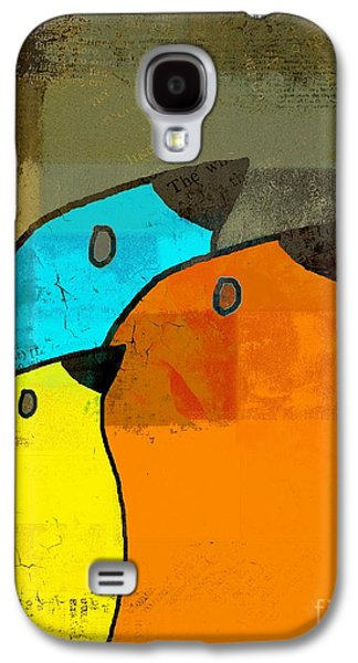 Rectangles Digital Galaxy S4 Cases - Birdies - c02tj1265c2 Galaxy S4 Case by Variance Collections