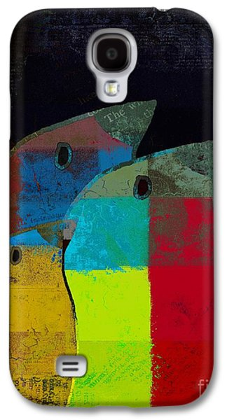 Multicolored Digital Art Galaxy S4 Cases - Birdies - c2t1v4 Galaxy S4 Case by Variance Collections