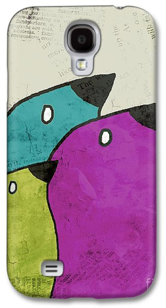 Birdies - V06c Galaxy S4 Case by Variance Collections
