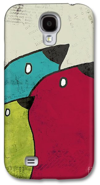Birdies - V101s1t Galaxy S4 Case by Variance Collections