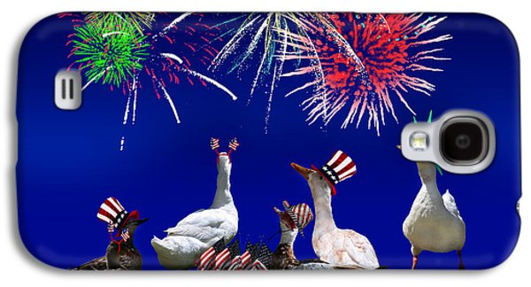 4th July Mixed Media Galaxy S4 Cases - Birds of a Feather Celebrate Freedom Galaxy S4 Case by Gravityx9  Designs