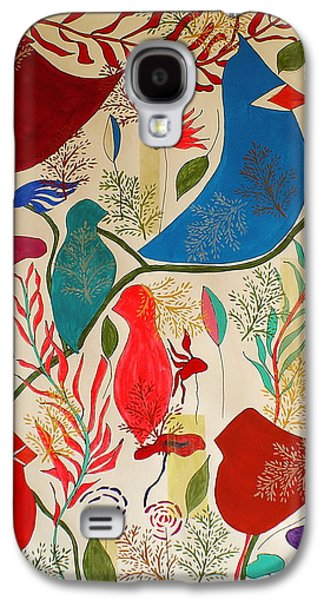 Group Of Birds Paintings Galaxy S4 Cases - Birds of a Feather Galaxy S4 Case by Judith Fox-Hogg