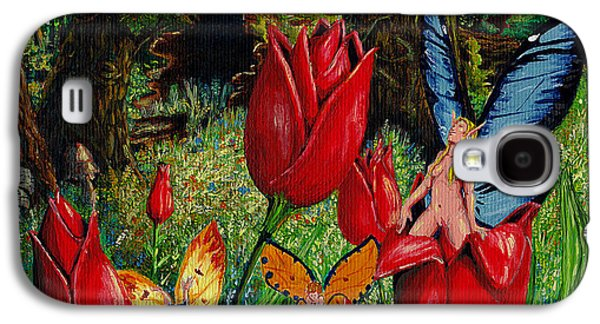 Surreal Landscape Drawings Galaxy S4 Cases - Birth Of A Fairy Galaxy S4 Case by Gregory M