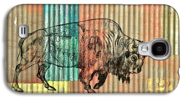 Bison Drawings Galaxy S4 Cases - Bison 127-3 Galaxy S4 Case by Larry Campbell