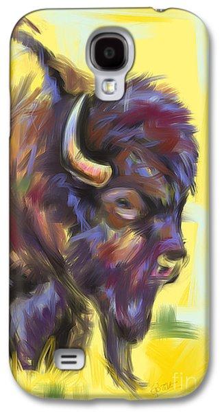 Bison And Bird Galaxy S4 Case by Go Van Kampen
